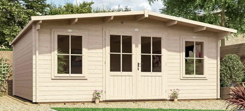 a shed ready made for a man cave