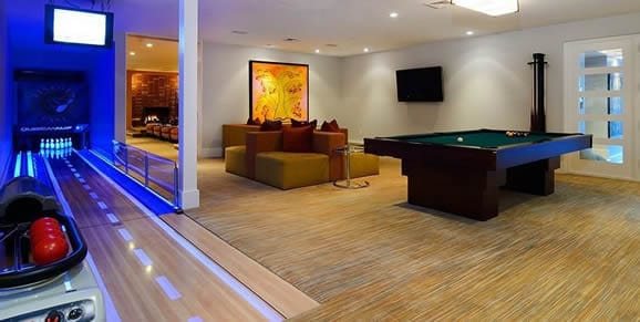 bowling alley man cave