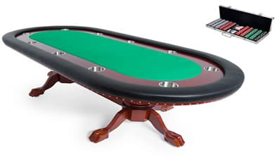 professional poker table and poker set