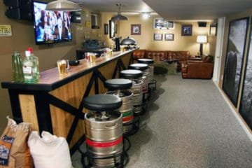 how to build a man cave bar on a budget