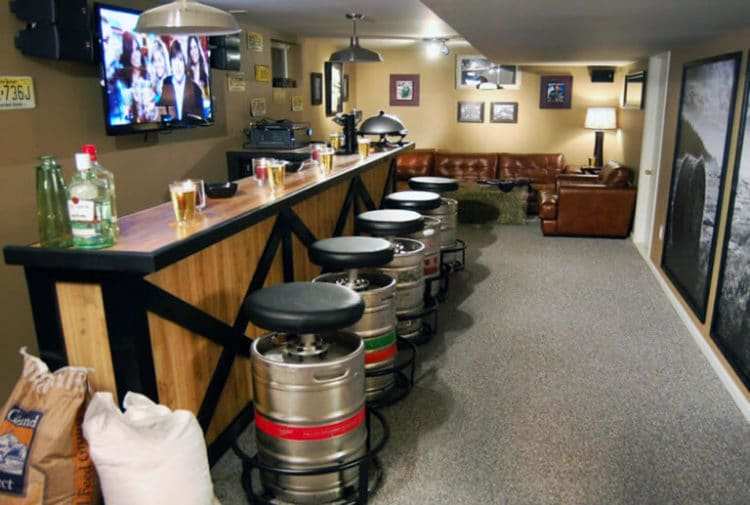 How To Build A Man Cave Bar On A Budget Man Cave Know How