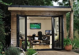 Small outbuilding man cave office