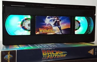 Back to the Future video cassette lamp