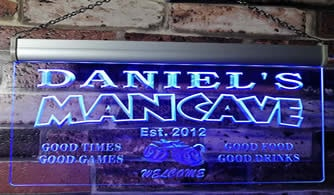 personalized man cave neon lights