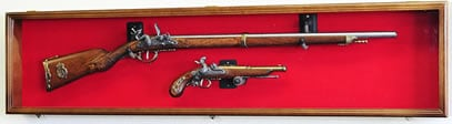 long rifle and musket