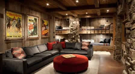 ceiling lights are best in basement man cave