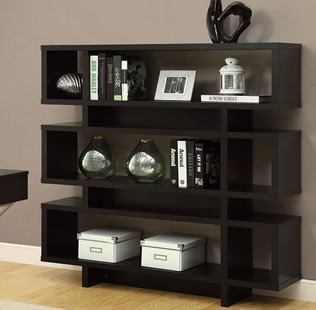 Monarch Specialties Hollow-Core High Modern Bookcase