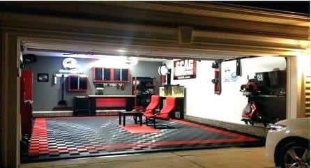 Racing garage man cave idea
