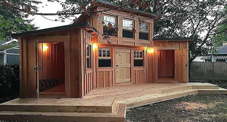 home built man cave shed