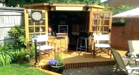 small man cave shed bar