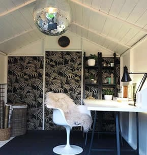 Quirky she shed interior