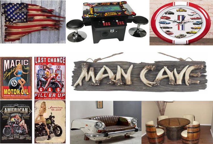 My Man Cave Rules Show Up Naked TIN SIGN funny metal beer decor vtg rustic I OHW