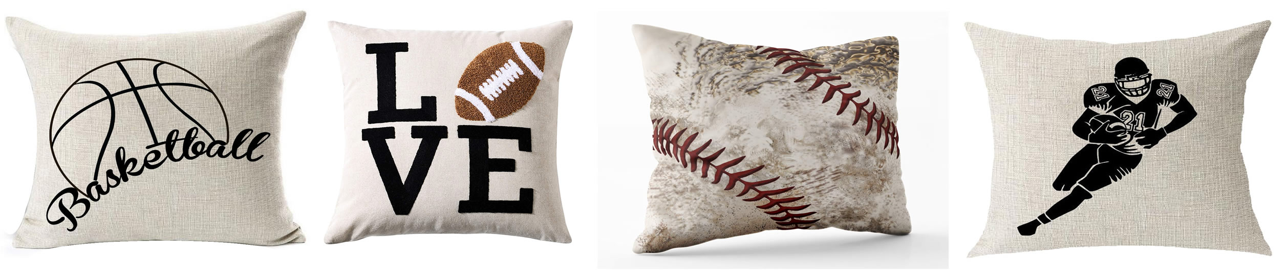 sports themed pillow covers
