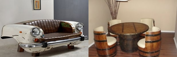 upcycled junk to furniture