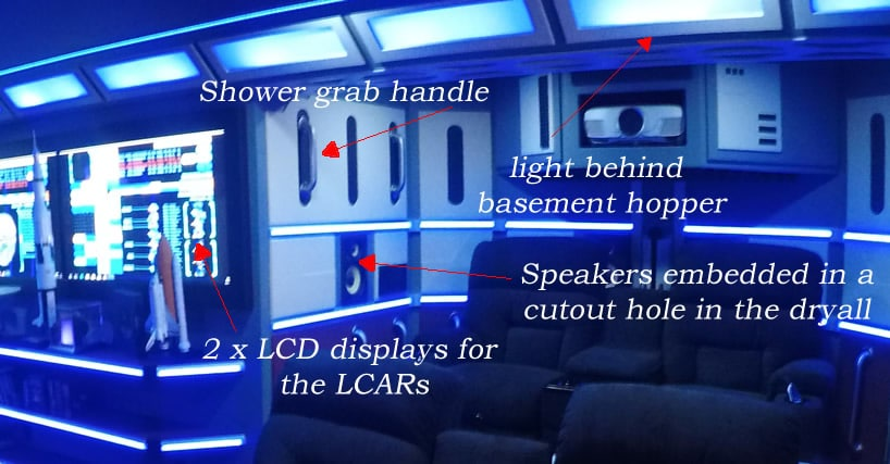 Sci-fi man cave components