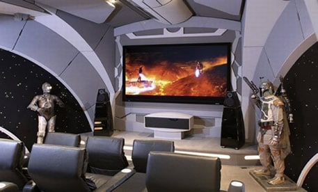 Star Wars movie theater man cave