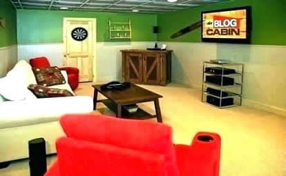 budget man cave idea for a small room