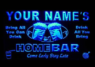 man cave bar neon sign