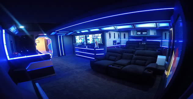 sci-fi man cave finished