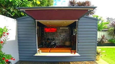 small outdoor man cave
