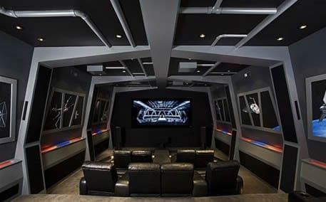 star wars man cave theater