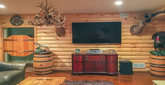 the rustic saloon man cave