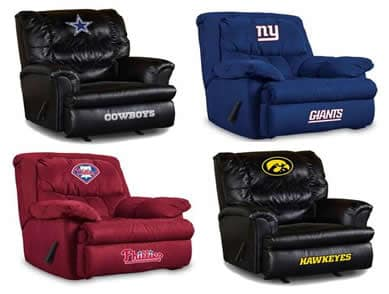 Sports logo recliners