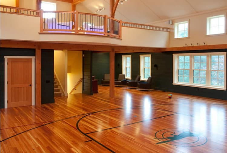 Basketball man cave