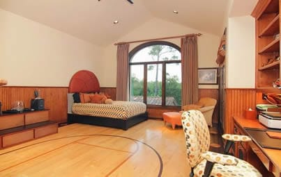 Basketball man cave bedroom