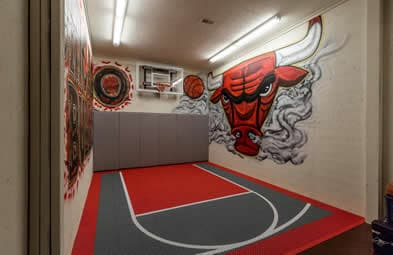 Bulls basketball man cave