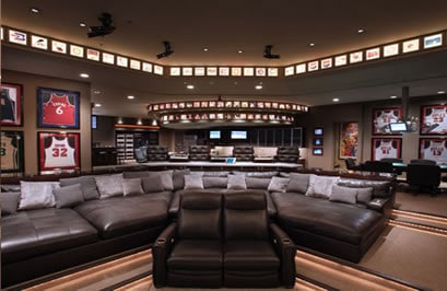 Jersey basketball man cave