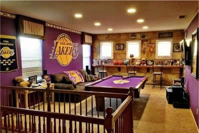 Lakers basketball man cave