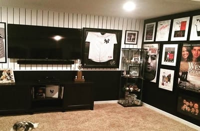 Mix and match Yankees movie man cave