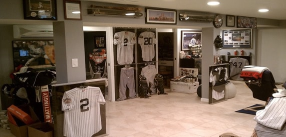 Yankees hall of fame man cave