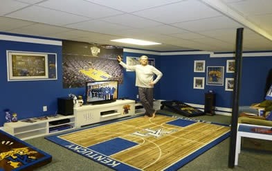 university of kentucky basketball man cave