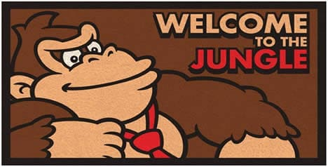 Welcome to the Jungle Donkey Kong man cave mat