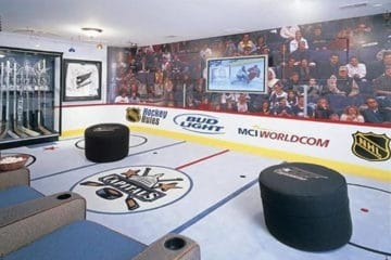 Epic hockey man cave
