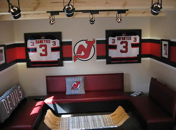 Puck perfect ice hockey man cave