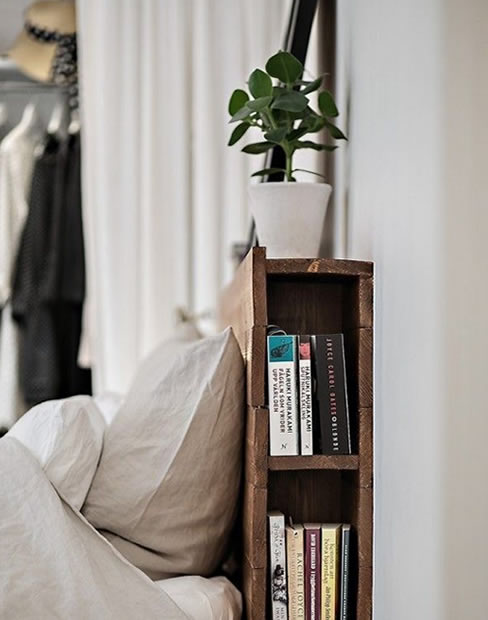 Headboard she shed library book storage