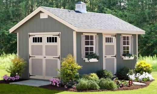 Wooden she shed