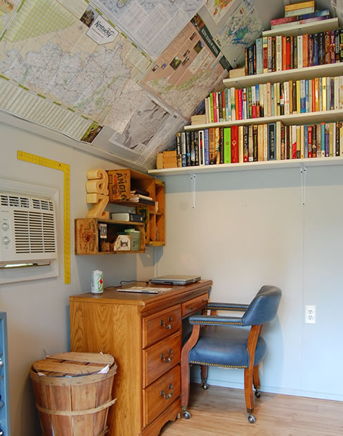 she shed office library