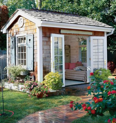 she shed paved outdoor