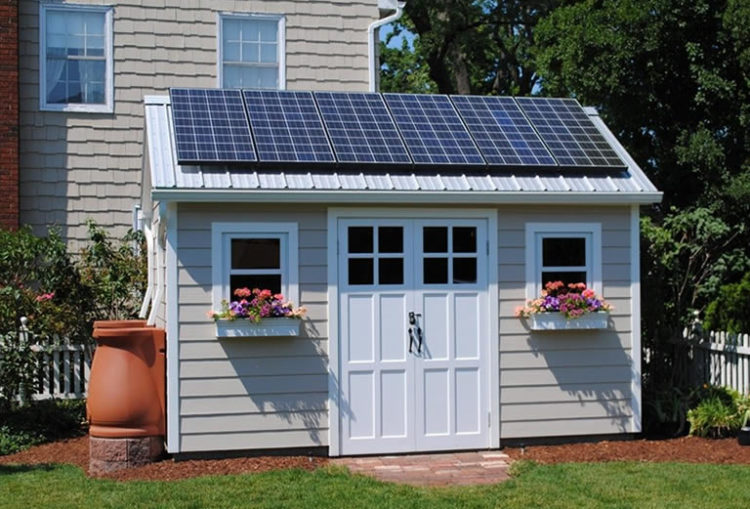 solar powered shed